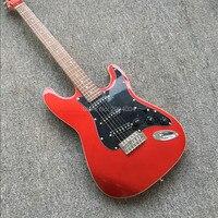 Новые ST гитары, металл красный, черный пикап, завод оптом и в розницу, реальные фотографии, в наличии. Все цвета могут быть,