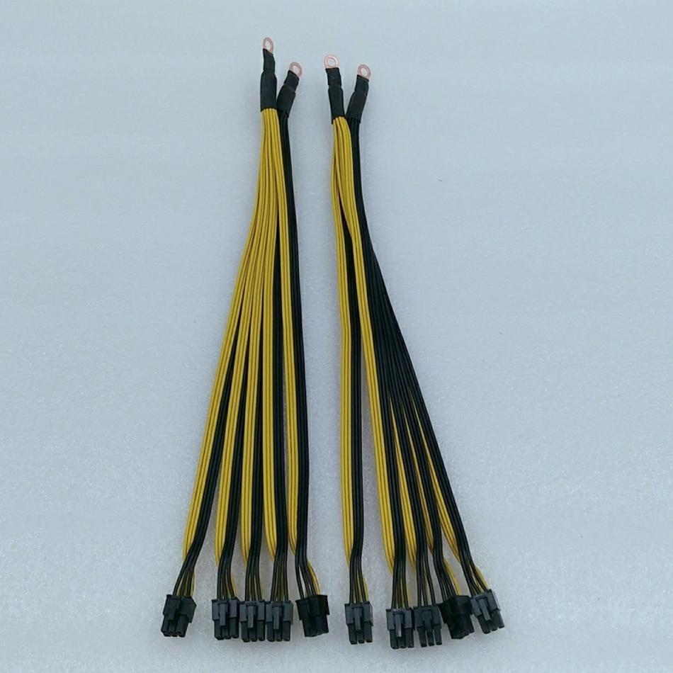 10 pcs 6Pin Connettori Sever Cavo di Alimentazione PCIe Express Per Innosilicon A9 A8 Antminer S9 L3 Z9 E3 Bitmain minatore PSU Cavo