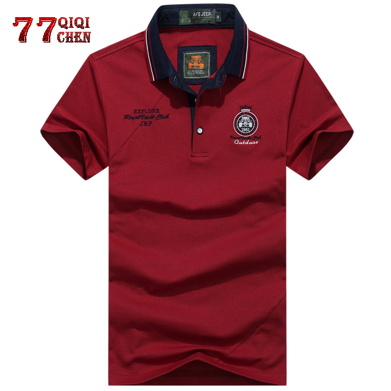 Embroidery Cotton   Polo   Shirt Men Solid color Business & Casual Tops Tee Short Sleeve Breathable Summer Camisa   polo   Masculina