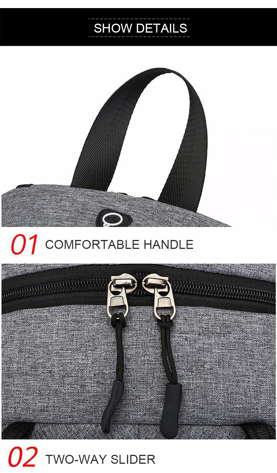 Travel Backpack Student Backpacks Laptop Notebook Back Pack Men Male Waterproof Bagpack USB Charging School Bags For Teenagers (13)