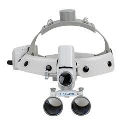 3.5X420mm Dental powiększ wysoka intensywność Led Light chirurgiczne lupa chirurg operacja medyczne powiększalnik kliniczne lupy stomatologiczne w Lupy od Narzędzia na