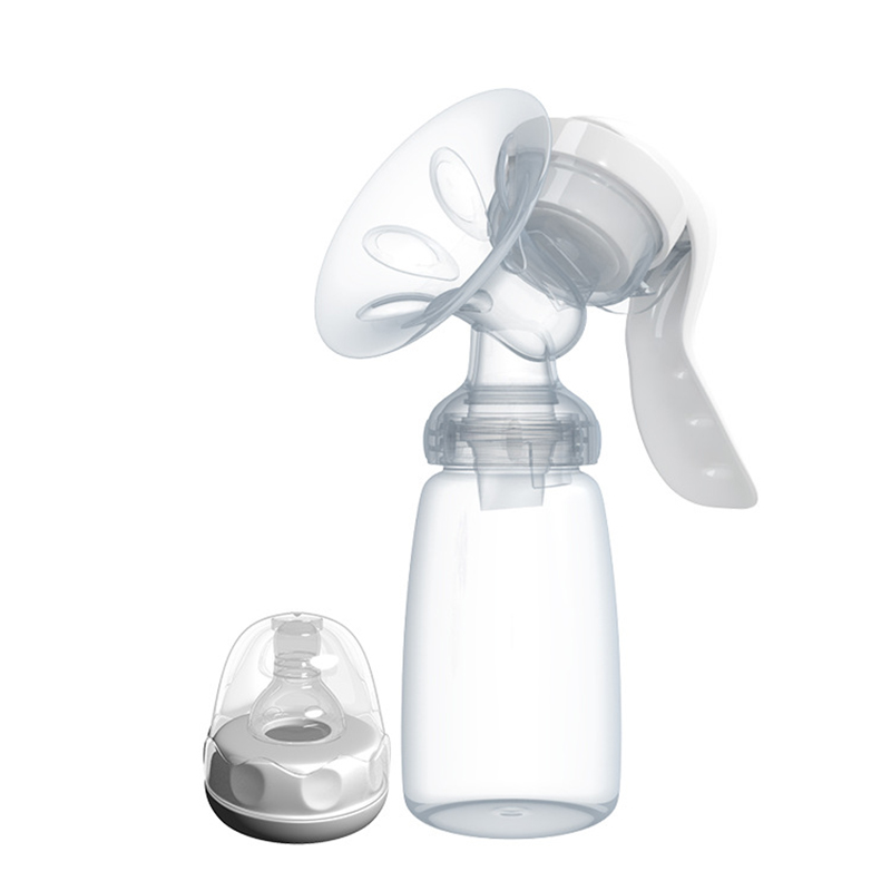 Manual Breast Pump Powerful Baby Nipple Suction 150ml Feeding Milk Bottles Silicone BPA Free Breasts Pumps Bottle Sucking TY0380