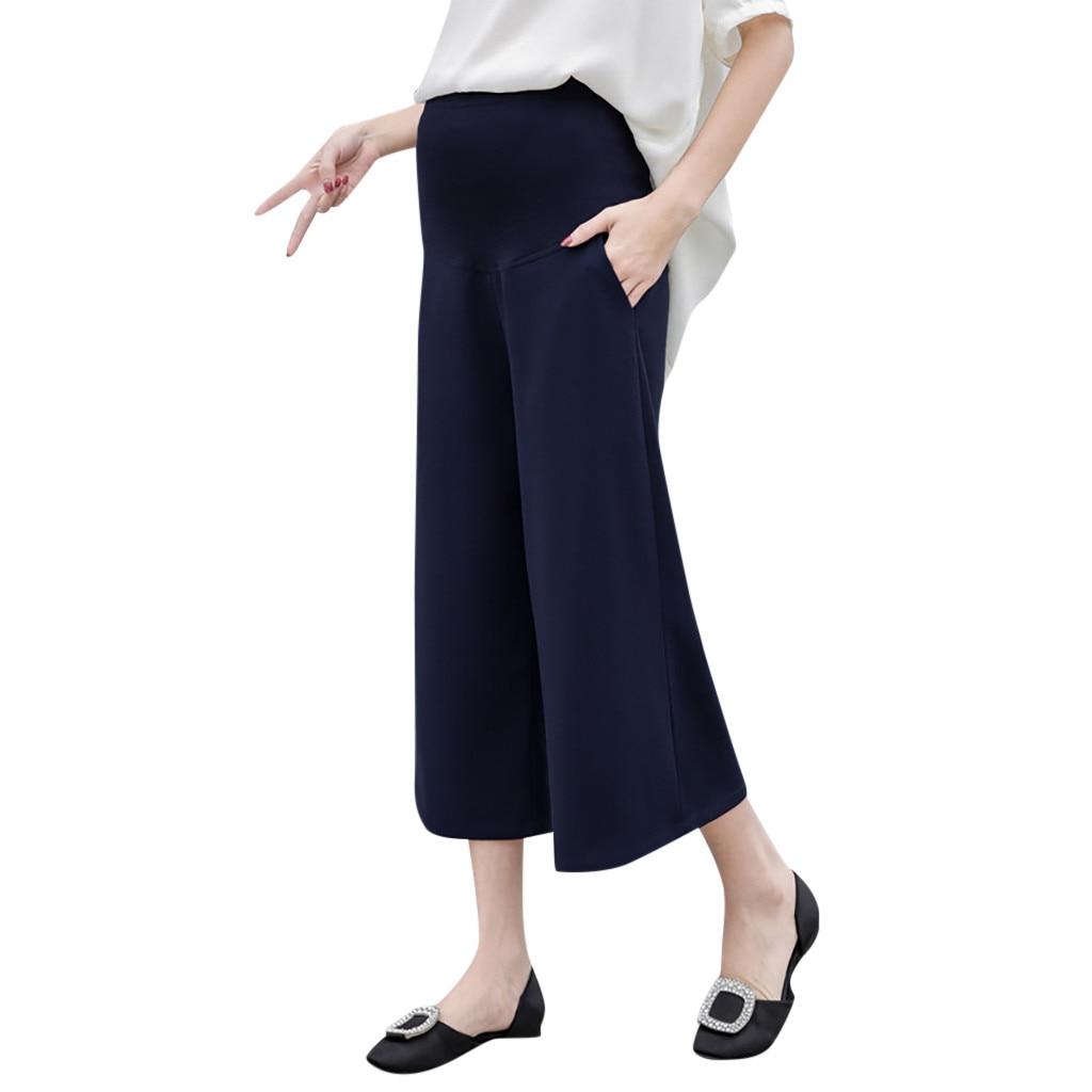 MUQGEW для беременных женские с высокой талией брюки для беременных комфорт Опора помоев леггинсы модные Беременность брюки M-XXL - Цвет: Dark Blue