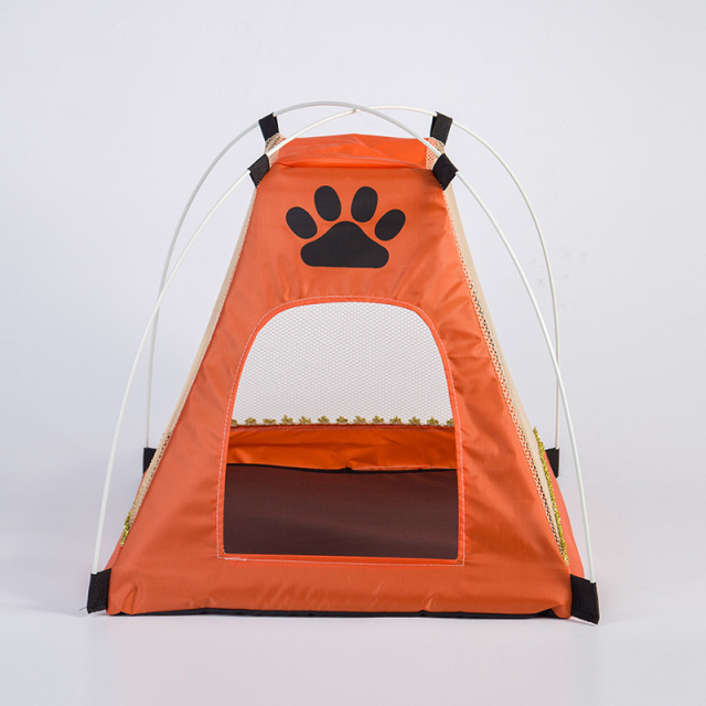 Portable Foldable Pet Dog Cat House Toy Nest Cats Tent Playpen Indoor Outdoor Kennel Tents for : dog kennel tent - memphite.com
