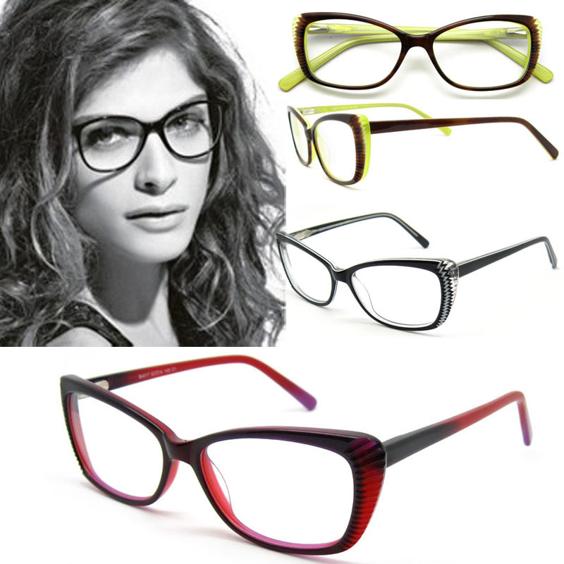 2015 Fashion Eyewear Glasses Frames Women Cat Eye Glasses Optical Frame Designer Prescription