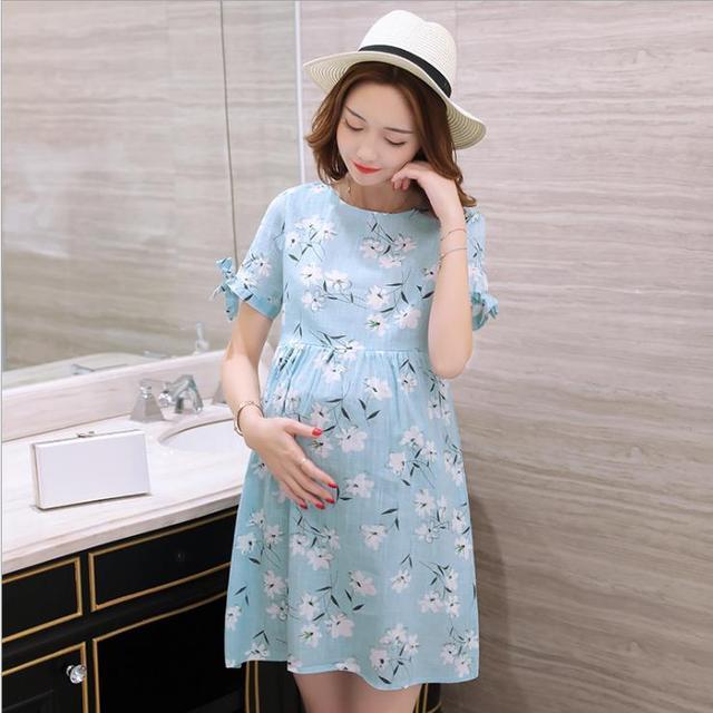 0290d0a69 2018 novo verão as mulheres grávidas vestido de maternidade gestantes  roupas vestidos de chiffon de moda
