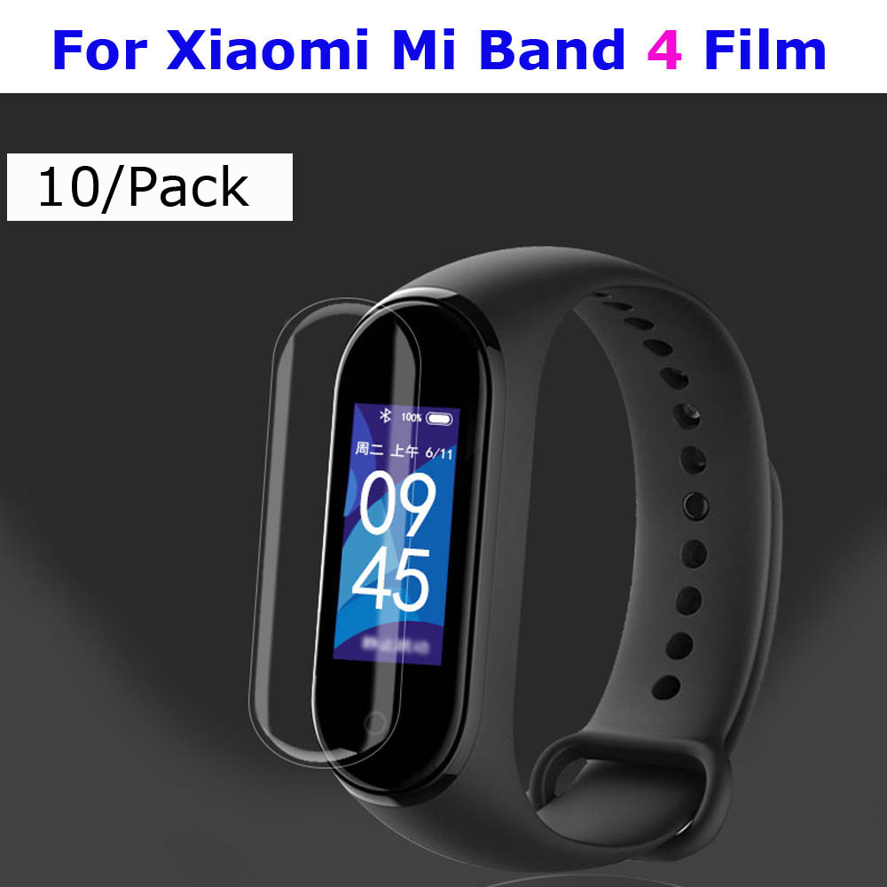 Mi Band 4 Protector Pantalla For Xiaomi Mi Band 4 3 Screen Protector Film For Xiaomi NFC Miband 4 3 Smart Bracelet Films 10 Pcs-in Smart Accessories from Consumer Electronics
