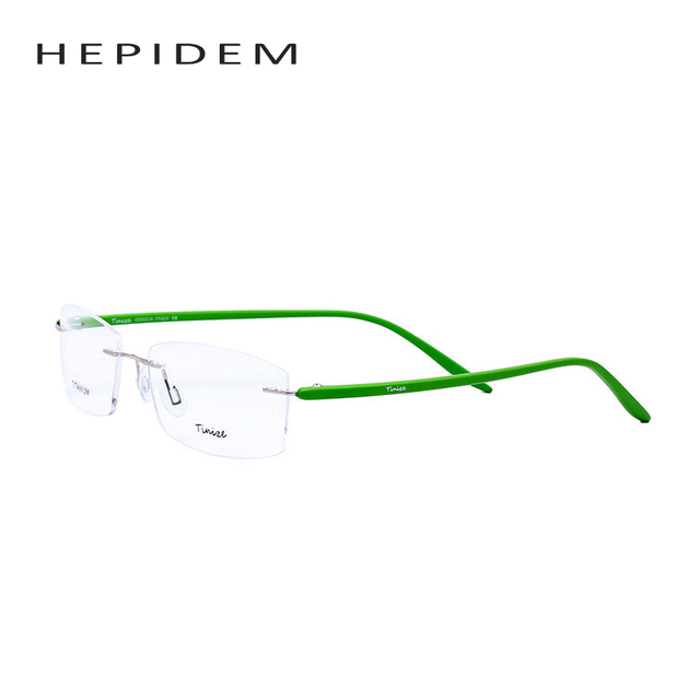 Tinize High Quality Women Square Myopia Rimless Glasses Men TR-90 Memory Eyeglasses Optical Frame TR90 Titanium Eyewear with box