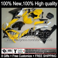 Bodys Yellow BlackBody For YAMAHA YZFR6 06 07 YZF 600 YZF R 6 YZF600 JK9612 YZF