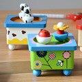 Novo Criativo Clockwork Manivela Mecanismo Da Caixa De Música De Madeira Brinquedo Magnético Caixas De Música Para Venda Instrumentos Musicais Brinquedos Do Bebê