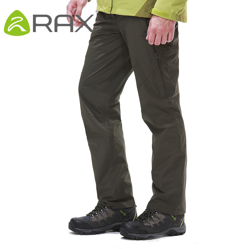 Rax Autumn And Winter Outdoor Waterproof Windproof Trousers Men Warm Thermal Hiking Pants Fleece Softshell Pants Sport Pants koraman men thick winter warm fleece softshell pants fishing camping hiking climbing skiing trousers waterproof windproof 229