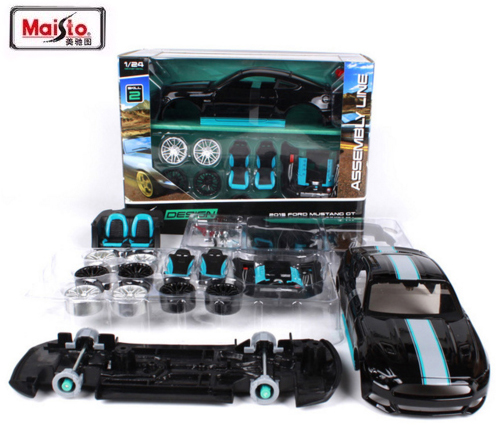 Maisto New DIY 1:24 2015 Mustang GT Race Car DIY Diecast