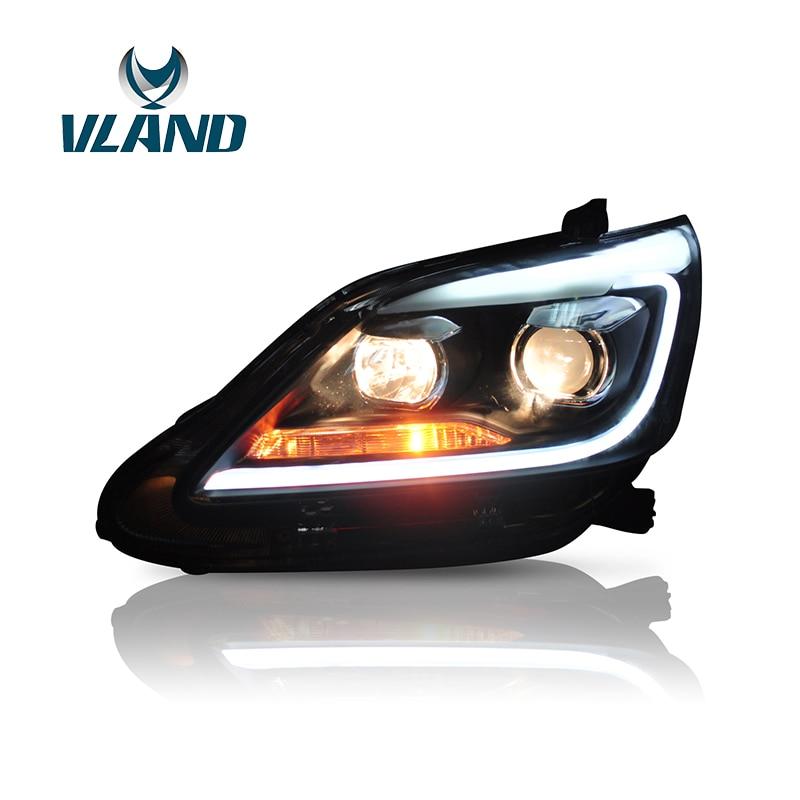 Vland завод автомобильные аксессуары головной светильник для Toyota Innova 2012 2015 светодиодный светильник с DRL H7 BI Xenon Lens