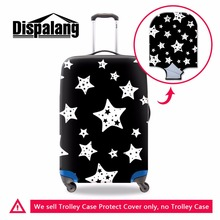 Black Green Purple Star print elastic polyester travel luggage cover geometric spandex waterproof Baggage Cover travel accessory