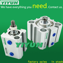 SDA16X45S SDA16X50S YIYUN thin cylinder SDA Series Aluminium alloy cylinder Pneumatic components tn16 45 pneumatic cylinder standard aluminium alloy