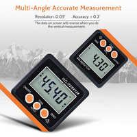 1pc In Lega di Alluminio Elettronico Digitale Goniometro Inclinometro Angle Gauge Meter Magneti Base strumento di Misura Digital Bevel Box