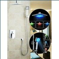 Ouboni набор для душа Torneira светодиодный свет 8 Насадки для душа Ванная комната осадков 57709A Vanity Cooper Водостоки светильники смесители, Смесители