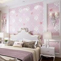 Wallpaper Rustic Wallpaper Fashion Flower Embossed Emboss Stereo Non Woven Living Room Wall