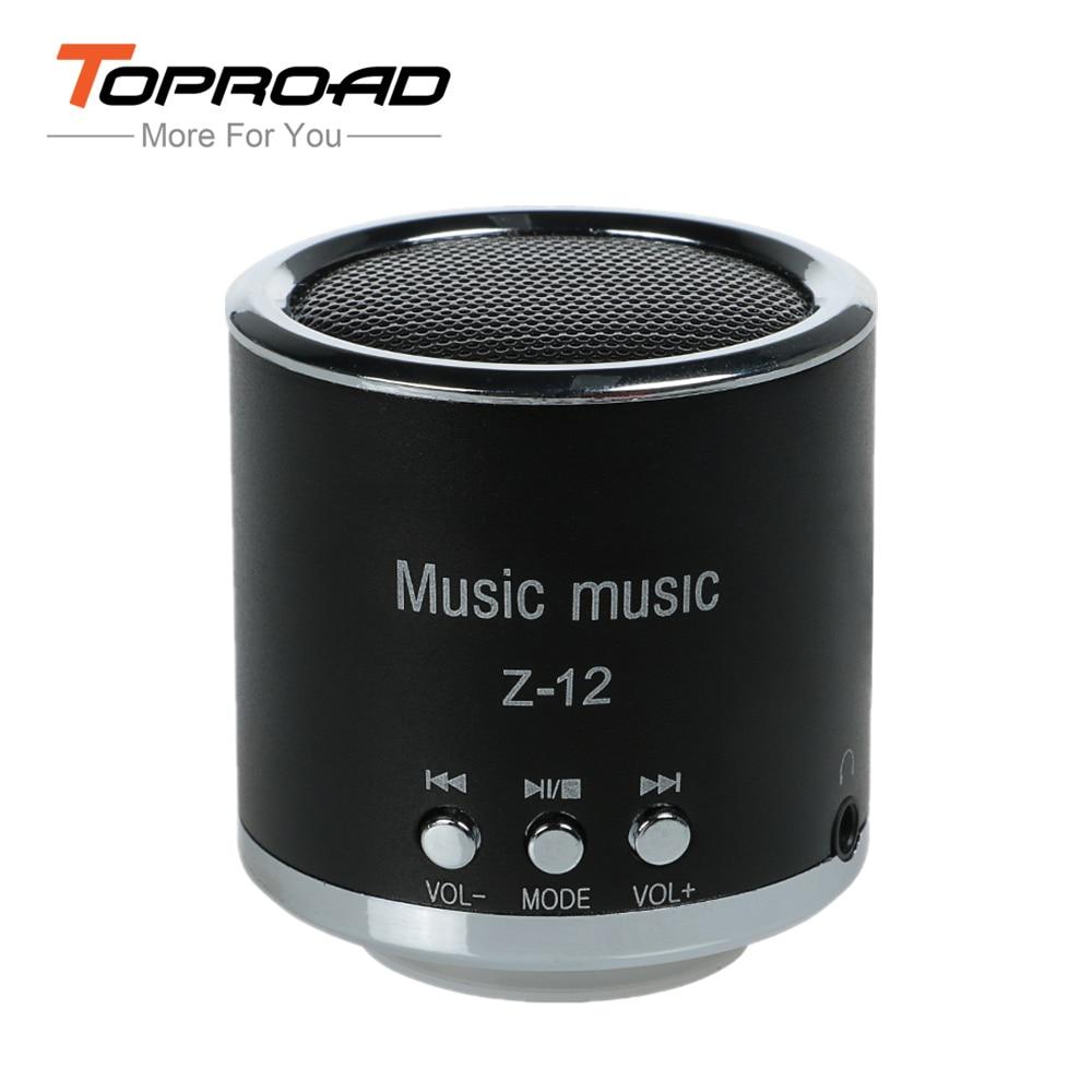 TOPROAD FM Radio Speaker USB Micro SD TF Card Mp3 Mini