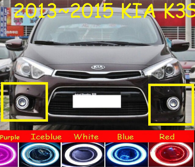 KlA K3S fog light,2012~2015 Free ship!KlA K3S daytime light,2ps/set+wire ON/OFF:Halogen/HID XENON+Ballast,Carens,K3 S,K3 bqlzr dc12 24v black push button switch with connector wire s ot on off fog led light for toyota old style