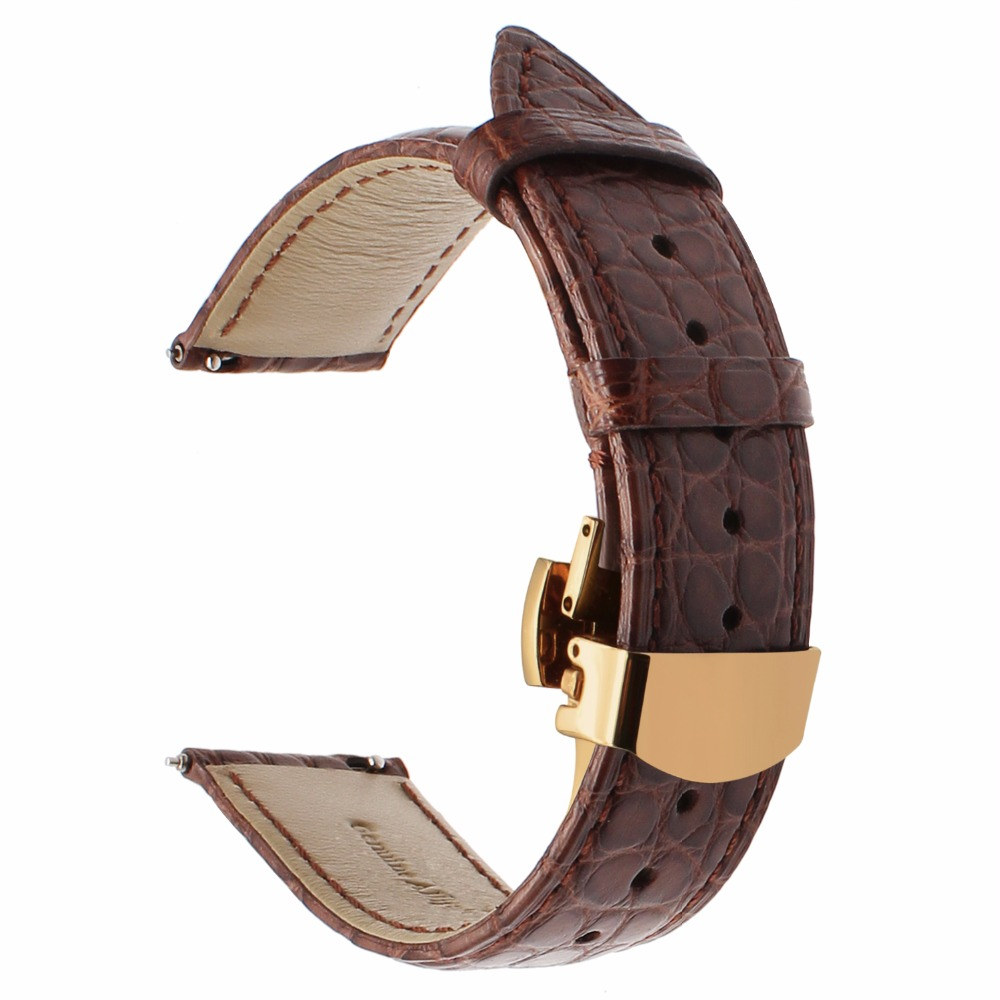 Image 4 - Genuine Alligator Leather Watchband for Orient Jacques Lemans Frederique Constant Watch Band Croco Strap Bracelet 18mm 20mm 22mm-in Watchbands from Watches