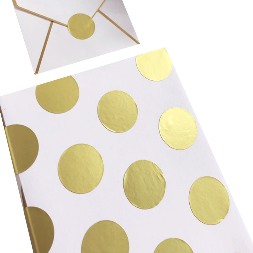 160pcs/lot Round Blank Gold Seal Sticker Envelope Decorative Sealing Sticker Handmade Gift Cake Baking Packing Decoration Label