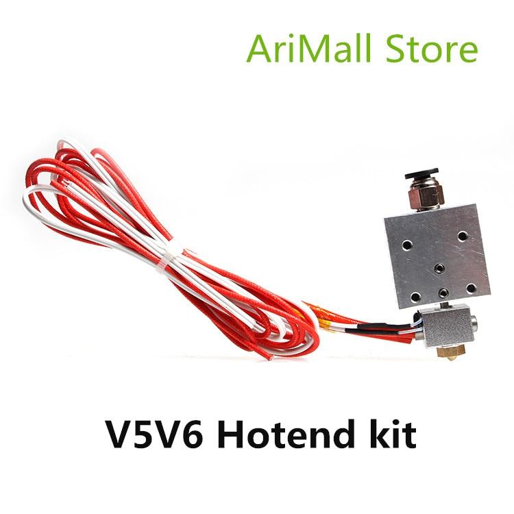 Pièces d'imprimante 3D j-head mis à niveau tout métal bowden extrudeuse tête ensemble V5 V6 j tête télécommande Hotend kit 0.4mm/1.75mm
