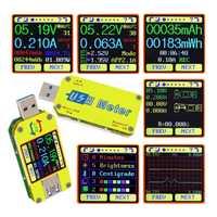 UM34 u34c para APP USB 3,0 tipo C voltímetro de CC medidor de voltaje medidor de corriente de batería Medición de carga probador de resistencia de cable