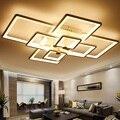 Креативный современный квадратный светодиодный потолочный светильник для дома  гостиной  спальни  кабинета  прохода  потолочный светильни...