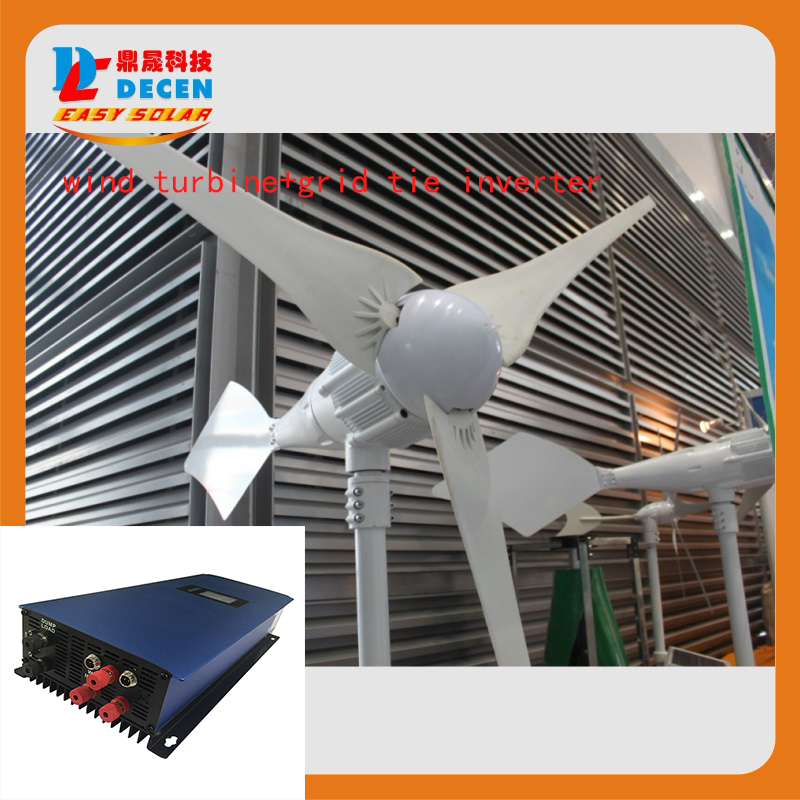 все цены на MAYLAR@ 1000W 24V Wind Turbine Dolphin+1000W 22-60V Wind Grid Tie Inverter For Wind Power System онлайн