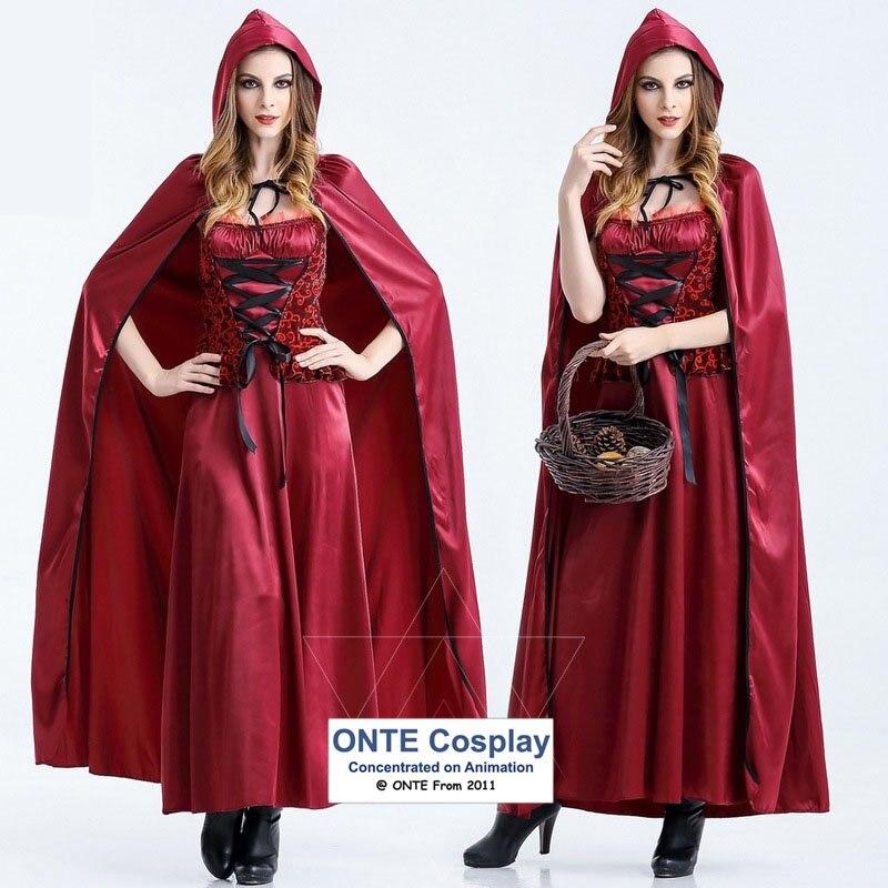 568735193 ▻Cuento de hadas Caperucita Roja Cosplay bruja ropa Fancy vestido ...