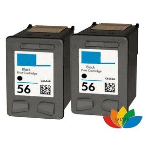 2PK совместимый HP 56 черный заправленный картриджи для hp56 DESKJET 450Ci/450Cbi/450wbt/5160/5550/5650/5652/9600