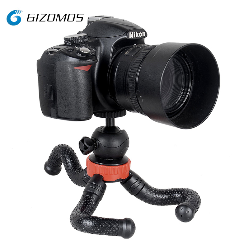 GIZOMOS GP-03STS Flexible Mini Phone Stand Tabletop Octopus Tripod For Smartphone Mirrorless Camera With Ball Head/Phone Hold smartphone
