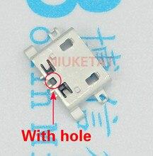 100 шт. разъем Micro USB 5pin 0.8 мм b Тип с отверстием женский для мобильного телефона Micro USB разъем 5-контактный разъем зарядки