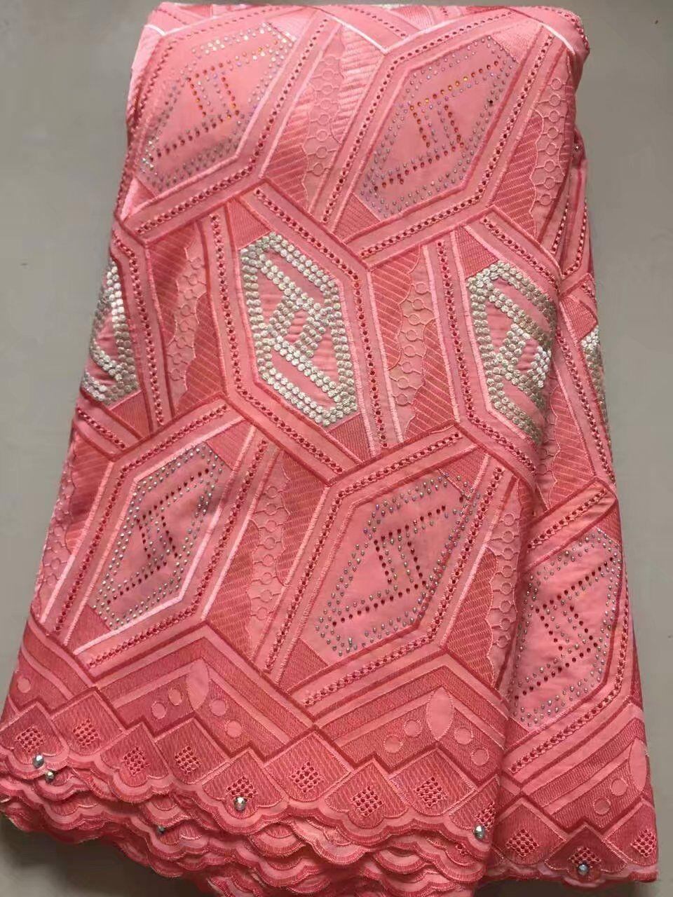 Nouveau Design haute qualité africain suisse Voile dentelle/luxe suisse Voile dentelle en suisse pour robes avec pierre
