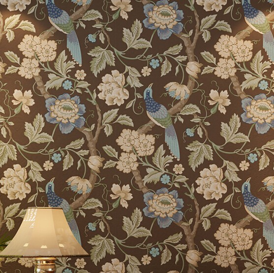 2016 new selling non-woven wallpaper south-east Asia Imitation embroidery American birds and flowers bedroom TV  porch wallpaper selling the lower east side culture real estate and resistance in new york city
