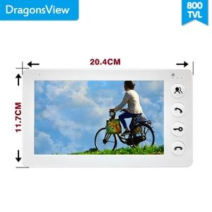"Image 3 - Dragonsview 7 ""วิดีโอ Intercom Doorbell โทรศัพท์ LCD สีโลหะกลางแจ้งสนับสนุนล็อคปุ่ม (ไม่รวม) video Call"