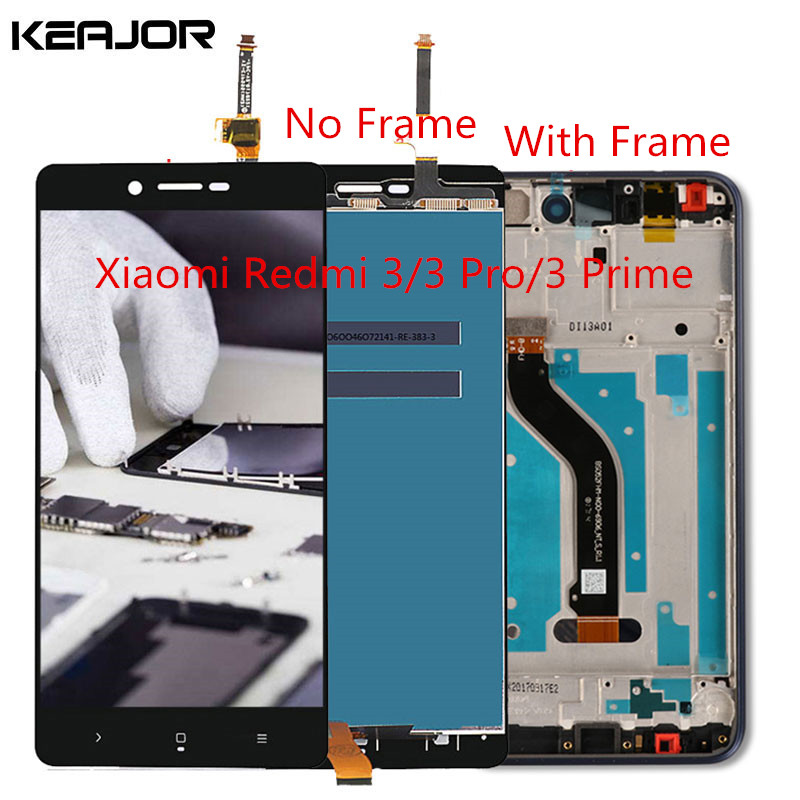 For Xiaomi Redmi 3 Pro LCD Screen Redmi 3 Display Screen Tested Touch Screen with frame Replacement for Redmi 3S Prime 5.0inch