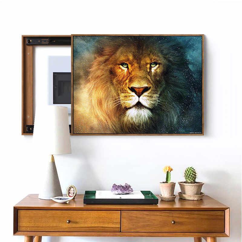 Meian,40X50 ซม.DIY Lion สัตว์เย็บปักถักร้อย,ภาพวาดเย็บปักถักร้อย,CROSS Stitch,ชุด,14CT Cross-Stitch,ชุดเย็บปักถักร้อย,VS-49