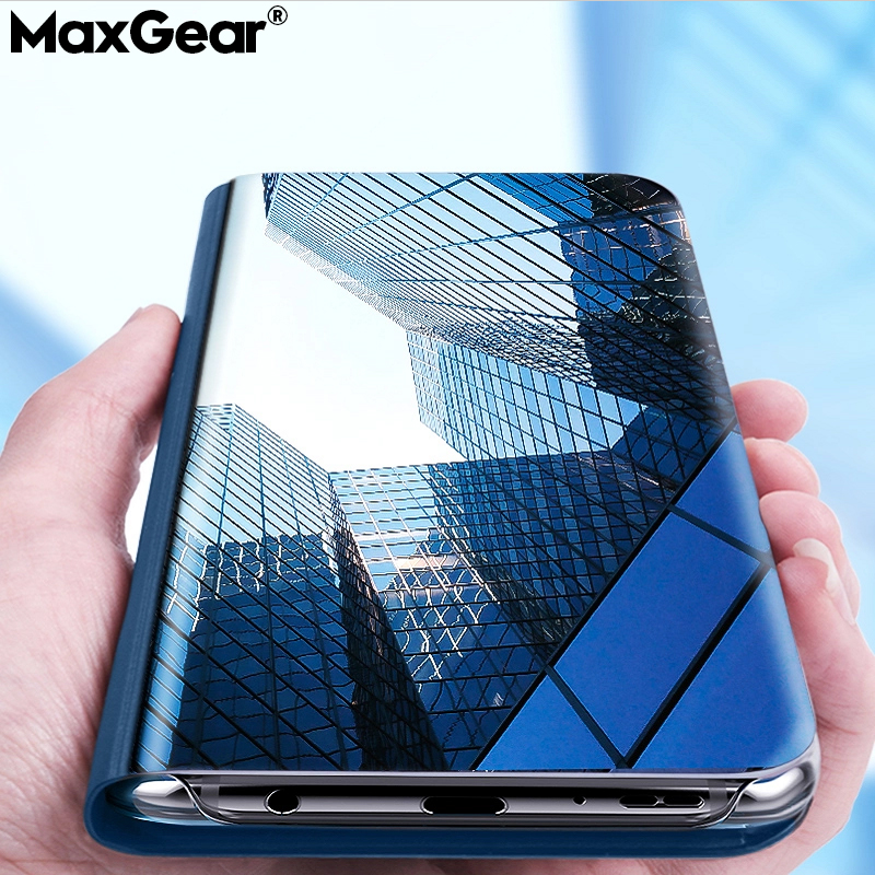 Smart Flip Mirror Case For Huawei Y6 Y7 Prime Y9 2018 2019 Mate 20 Lite P30 Pro Cover For Huawei honor 7C 7A 8X 10 Nova 2i 3 3i поиск аккумулятора по размеру