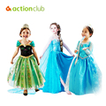2016 Elsa Anna Girl Dress Princess Party Dress For Girls Clothes 2016 Summer Style Children Clothing 2-12 Years