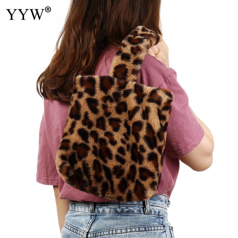 3cc5128922ff Detail Feedback Questions about 2018 Fashion Plush Leopard Women Shoulder  Bags Soft Crossbody Bag Famous Hot Designer Faux Fur Ladies Hairy Top  Handle ...