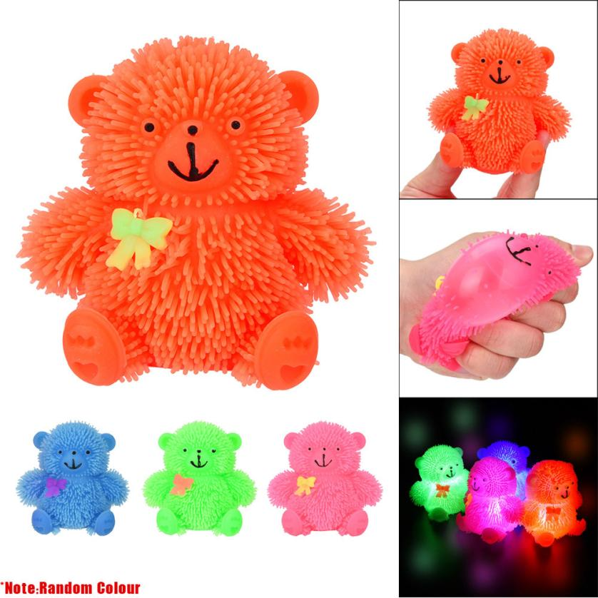 Squeeze Flashing squishy Puffer Cute Bear slow rising Sensory Toy Activity and Play Ball kid toy/Adult Toy Cherryb