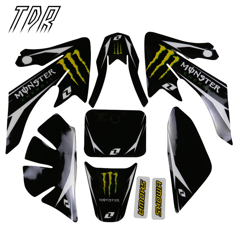 TDR Motors Decals Sticker Graphics CRF50 Dirt Pit Bike Style Parts Spare New Trendy Design Monster
