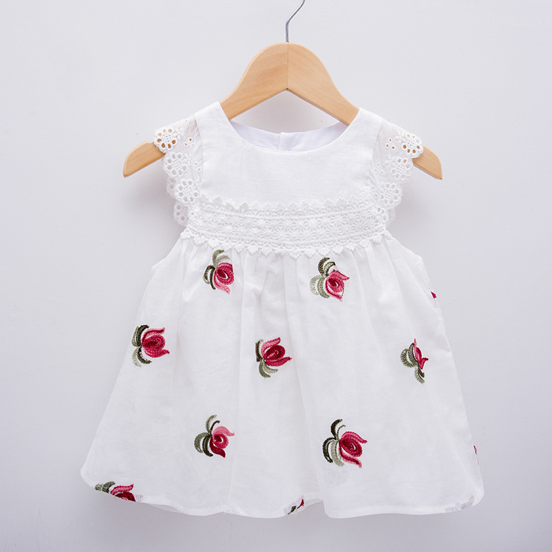 Koronkowe rękawy Dziewczynek sukienki Dekoracje kwiatowe Noworodek - Odzież dla niemowląt - Zdjęcie 1