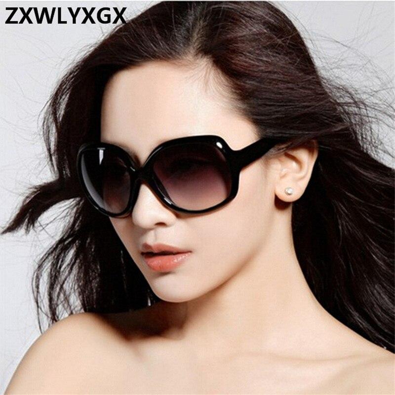 2018 New Mirror Goggle Sunglasses Women Brand Explosion-proof Lens Large Frame Female Sun Glasses Women Vintage Oculos De Sol