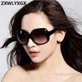 Очки солнцезащитные женские зеркальные, брендовые взрывозащищенные линзы, большая оправа, винтажные солнечные очки