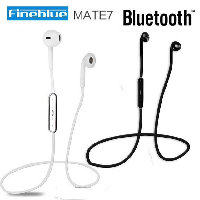 Fineblue mate7 audifonos auricolare fone de ouvido bluetooth estéreo música fone de ouvido sem fio micro esporte correndo fone de ouvido para o telefone