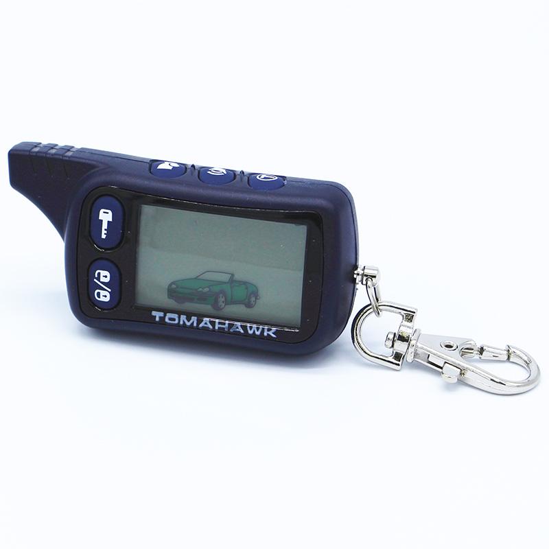 Prix pour Livraison gratuite TOMAHAWK TZ9010 LCD télécommande 2 voies système d'alarme de voiture pour TOMAHAWK TZ9010 Keychain