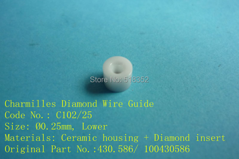 Charmilles C102  D =0.25mm  430.586/ 100430586  Diamond Wire Guide with Ceramic Housing for WEDM-LS Machine Parts a290 8110 x715 16 17 fanuc f113 diamond wire guide d 0 205 255 305mm for dwc a b c ia ib ic awt wedm ls machine spare parts